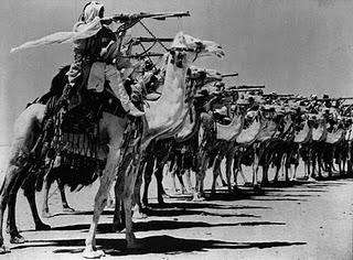 CamelCorpsoftheArabLegionpracticesfiringfromcamelbackduringWorldWarII-1940s.jpg (640×472)